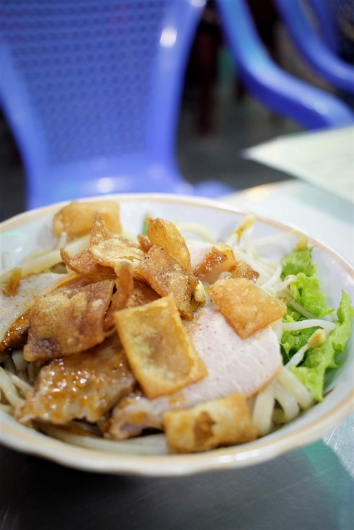 Les crackers apportent un côté croustillant super agréable au Cau Lau.
